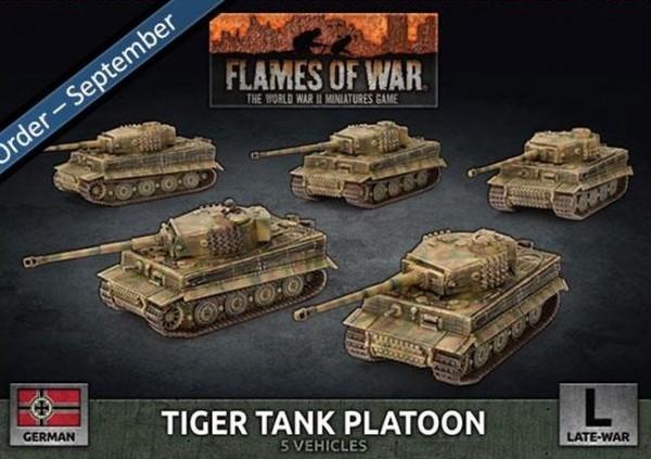 Flames of War GE: LW Tiger Tank Platoon (x5 Plastik)