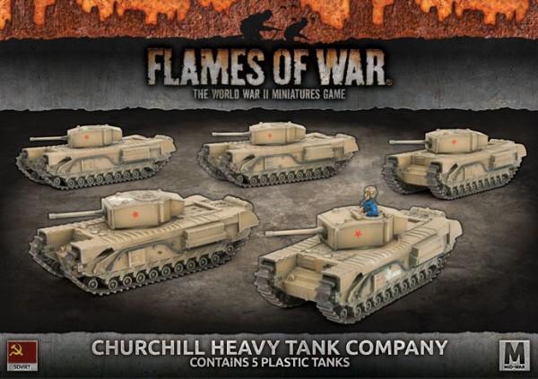 Flames of War SU: Churchill Heavy Tank Company (x5/Plastic)