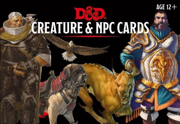 Monster Cards NPCs & Creatures (182)