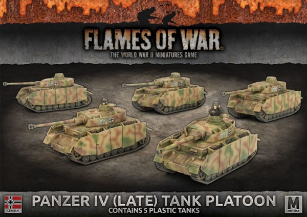 Flames of War GE: Panzer IV Tank Platoon (x5 Plastik)