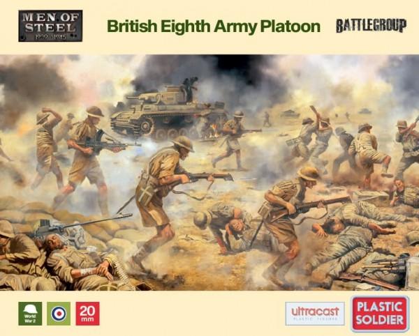 Plastic Soldier: 1/72 British Eight Army Platoon (x47)