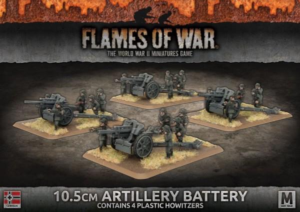 Flames of War GE: 10,5cm Artillery Battery (x4 Plastik)