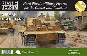 Plastic Soldier 15mm WW2 German Tiger I (x4, für FoW)