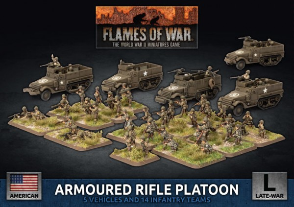 Flames of War US: US Armoured Rifle Platoon (Plastic)
