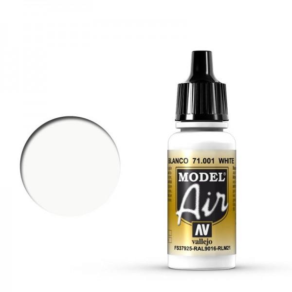 Vallejo Model Air: 001 White, 17 ml
