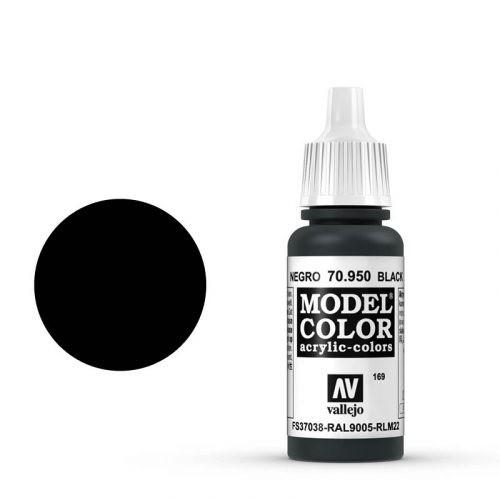 Vallejo Model Color: 169 Signalschwarz (Black), 17 ml (950)