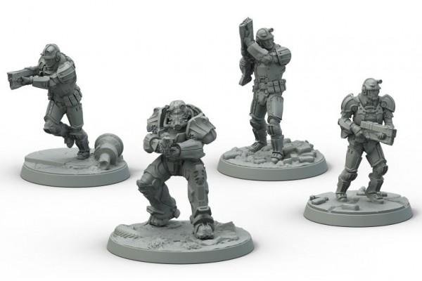 Fallout: Wasteland Warfare BoS Frontline Knights (engl.)