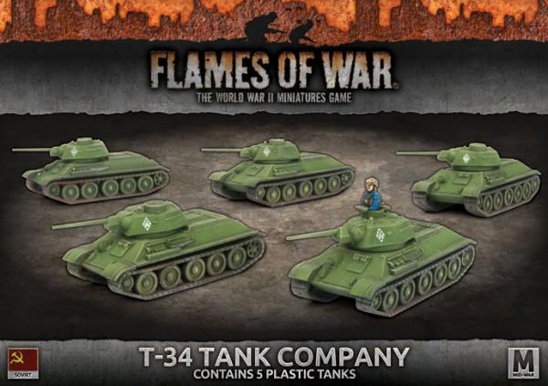 Flames of War SU: T-34 Tank Company (x5 Plastik)