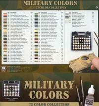 Vallejo Model Color: Military Colours (72 Farben, 3 Pinsel)
