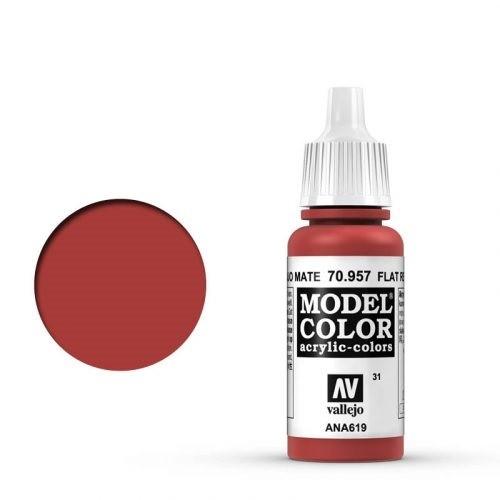 Vallejo Model Color: 031 Tomatenrot (Flat Red), 17 ml (957)