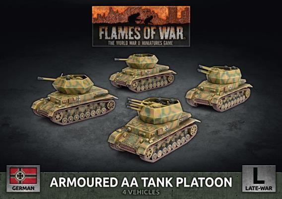 Flames of War Armoured AA Tank Platoon (x4)