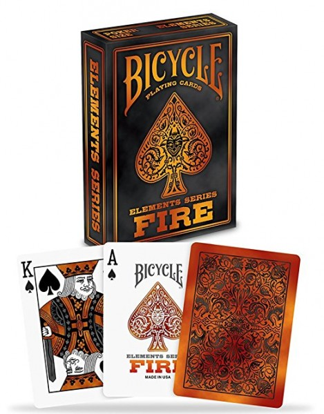Poker: Bicycle Playing Cards Fire (Poker)