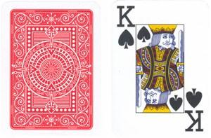Poker: Modiano Plastico Jumbo Index 2 Eckzeichen Rot