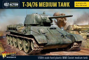 Bolt Action: T34/76 medium tank plastic boxed set