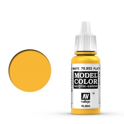 Vallejo Model Color: 015 Signalgelb (Flat Yellow), 17 ml (953)