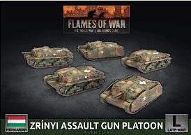 Flames of War: Hungarian Zrinyi Assault Gun Platoon (Plastic/x5)