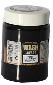 Vallejo Game Color Ink: Game Dipping Formula Wash Black, 200ml