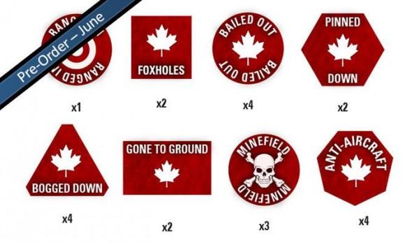 Team Yankee Canadian Token Set (x22)