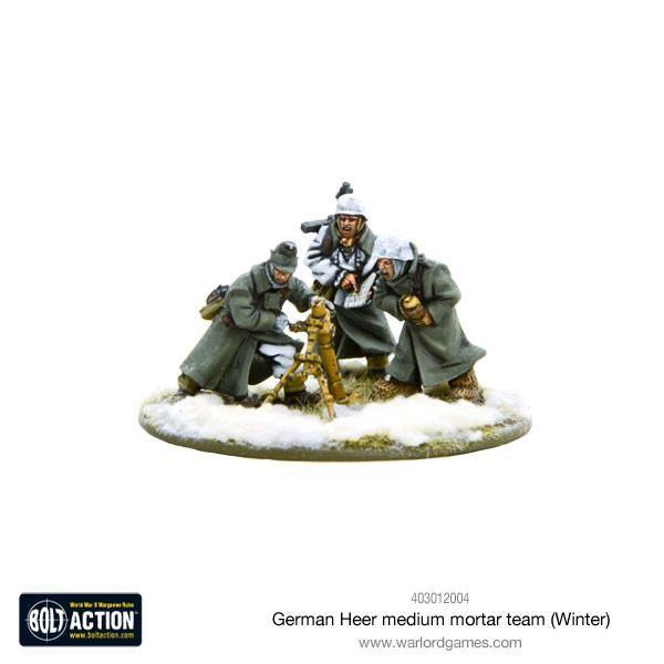 Bolt Action: German Medium Mortar Team (Winter)