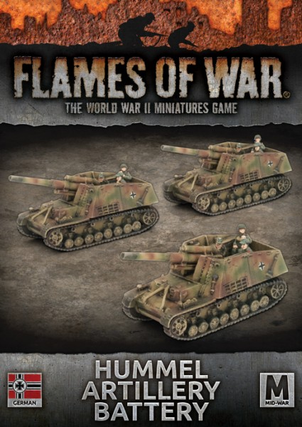 Flames of War GE: Hummel Artillery Battery (x3)