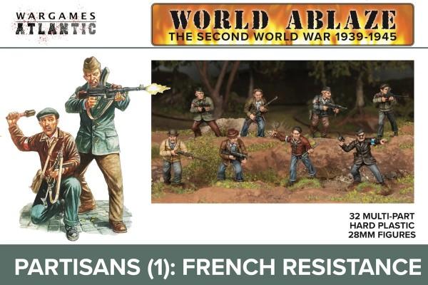 Wargames Atlantic: Partisans: French Resistance (x32 Plastic)