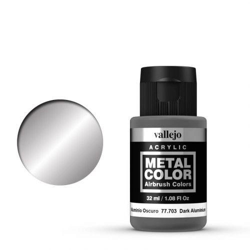 Vallejo Metal Color 703 Dark Aluminium 32 ml.