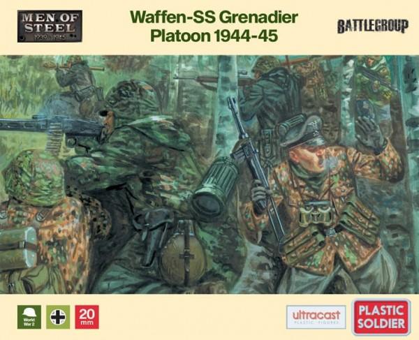 Plastic Soldier: 1/72 Waffen-SS Grenadier Platoon 44/45 (x33