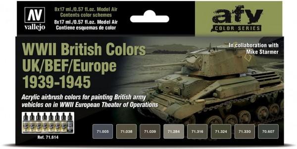 Model Air: WWII British Colors UK/BEF/Europe 1939-1945 - AFV Series