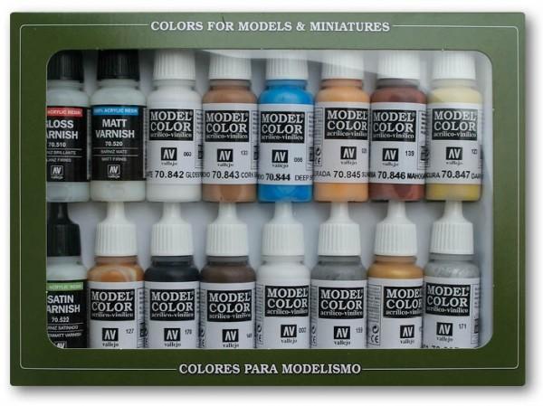 Vallejo Model Color: Set 02: Folkestone Specials (16 Farben)